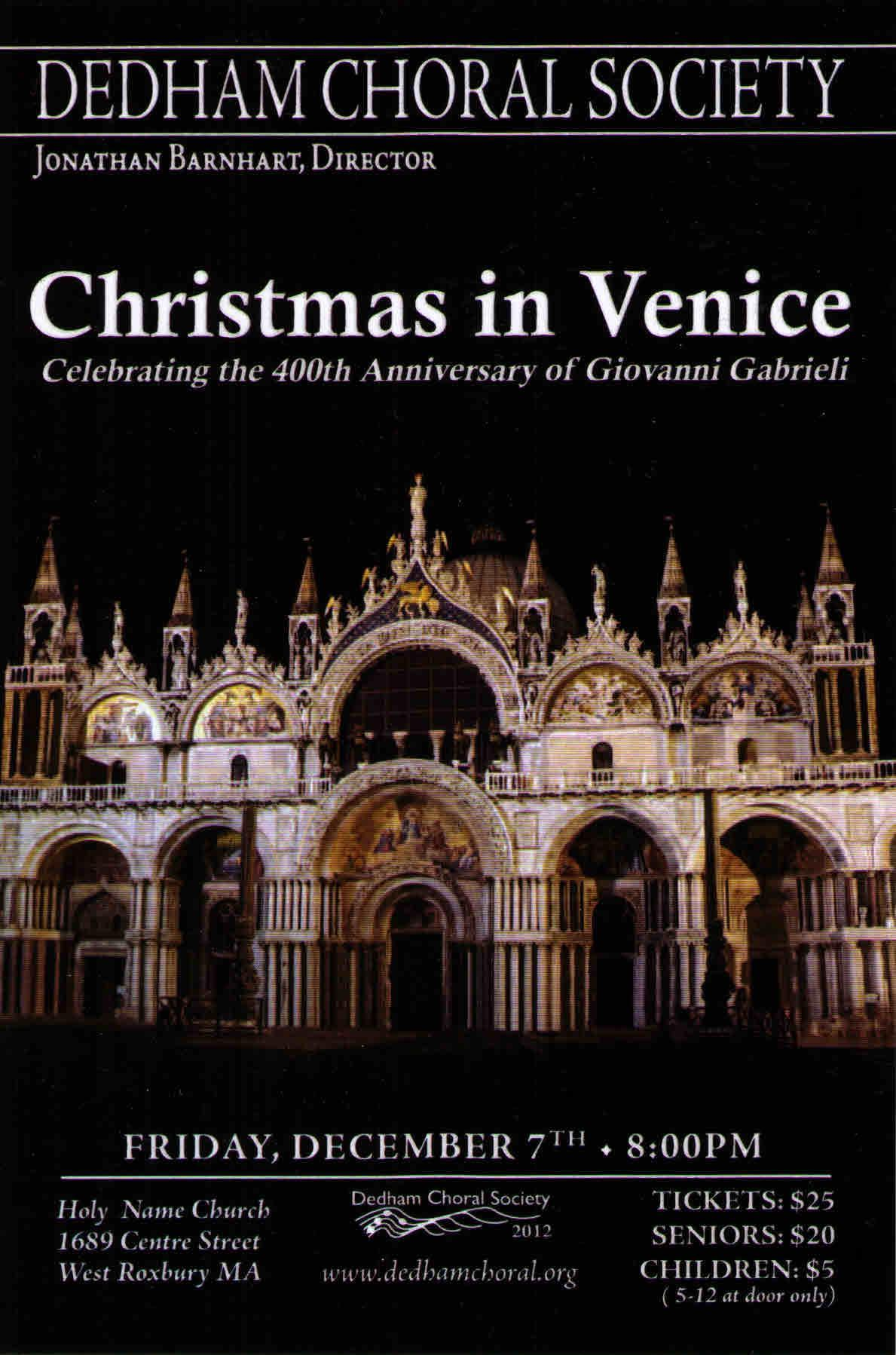 Christmas in Venice: Winter 2012